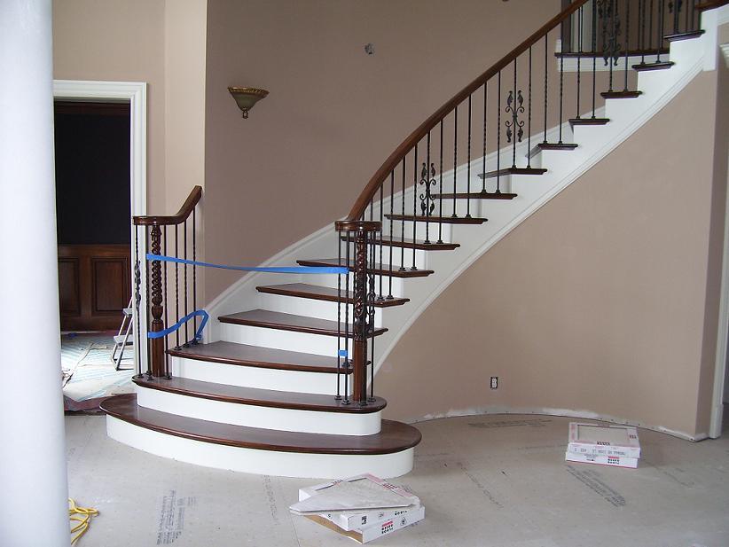 Unødvendig maling af trappeopgang